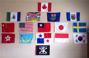 International country flags, world flags, Prairie Christian Academy